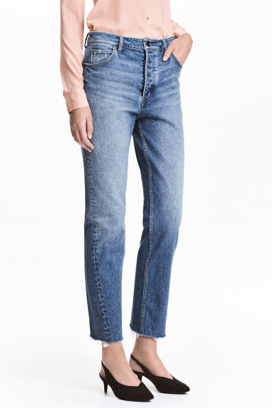 Straight Regular Jeans - 牛仔蓝 - 女士 | H&M CN 1