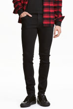 Jeans Super skinny fit - Denim nero - UOMO | H&M IT 1