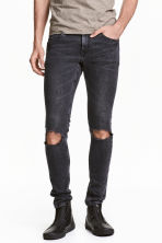 Super Skinny Trashed Jeans - Dark grey washed out - Men | H&M 2