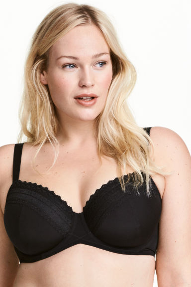 Padded underwired E/F cup bra - Black - Ladies | H&M 1
