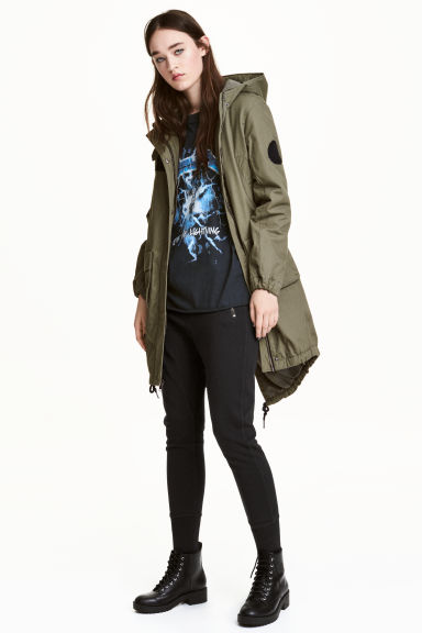Cotton parka - Khaki green - Ladies | H&M 1