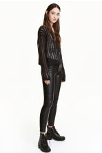 Imitation leather trousers - Black - Ladies | H&M CN 1