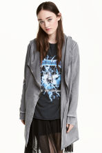Hooded sweatshirt cardigan - Grey - Ladies | H&M 1