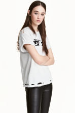 Trashed T-shirt - White/Siouxsie - Ladies | H&M 1