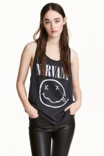 Vest top - Dark grey/Nirvana -  | H&M 1