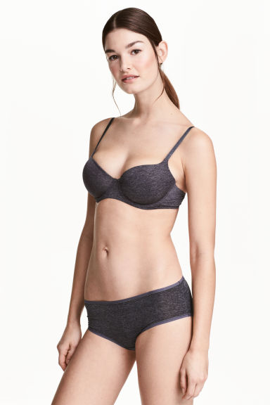 3-pack hipster briefs - Dark grey marl - Ladies | H&M CN 1