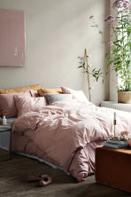 Patterned duvet set double - Dusky pink - Home All | H&M CN 1