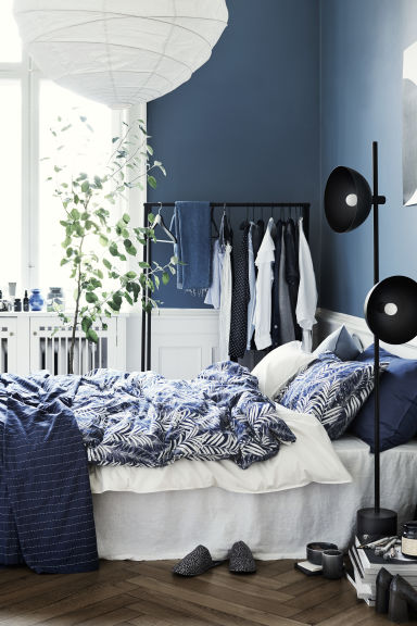 Federa in cotone lavato - Blu scuro - HOME | H&M IT 1