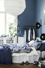 Set copripiumino con stampa - Blu scuro - HOME | H&M IT 1