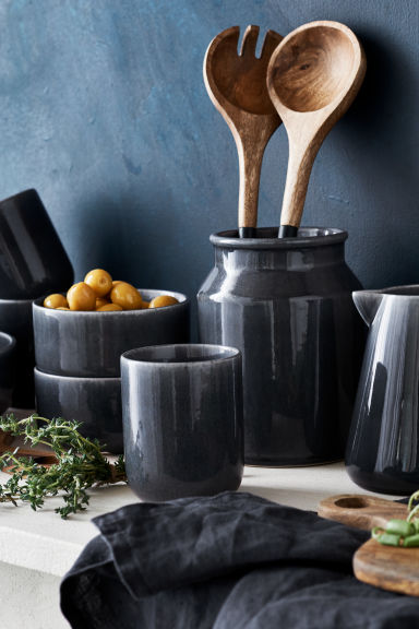 Small stoneware bowl - Dark grey - Home All | H&M CN 1