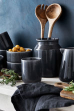 Linen napkin - Anthracite grey - Home All | H&M IE 1