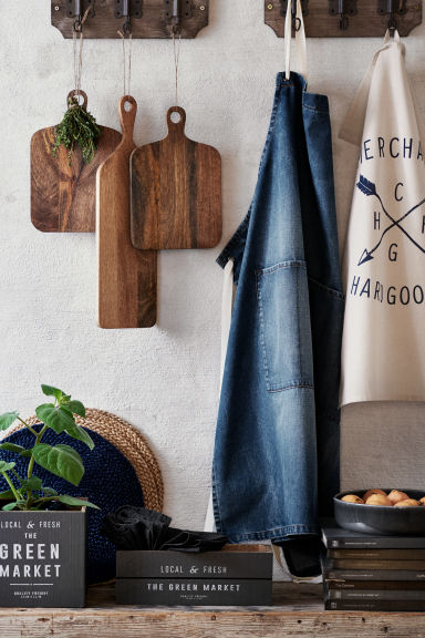Ronde juten placemat - Donkerblauw - HOME | H&M BE