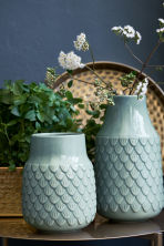 Vaso alto in gres - Turchese - HOME | H&M IT 1