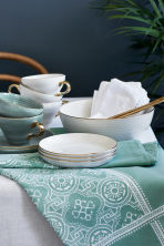 Textured porcelain cup - Dusky green - Home All | H&M GB 1