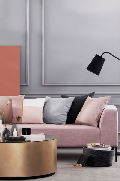 Housse de coussin color block - Rose ancien -  | H&M BE 1