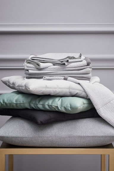Galette de chaise unie - Gris clair - Home All | H&M FR 1