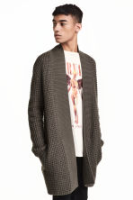 Textured cardigan - Dark mole - Men | H&M 1