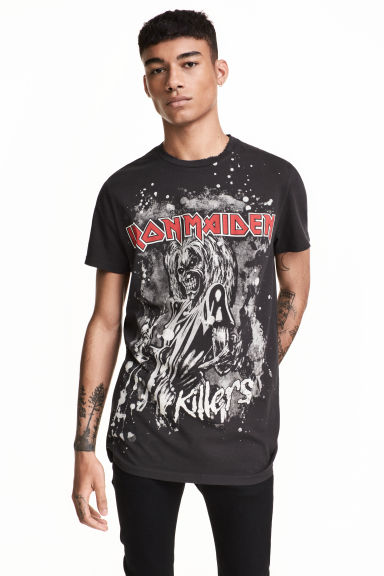 T-shirt with a print motif - Black/Iron Maiden - Men | H&M CN 1