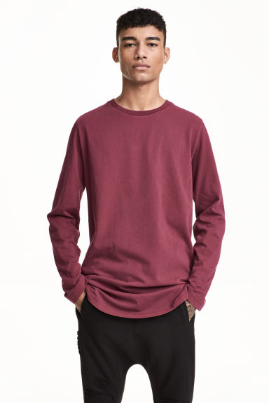 Long-sleeved T-shirt - Plum - Men | H&M CN 1
