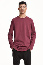 Long-sleeved T-shirt - Plum - Men | H&M 1