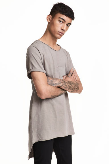 Long T-shirt - Mole - Men | H&M CN 1