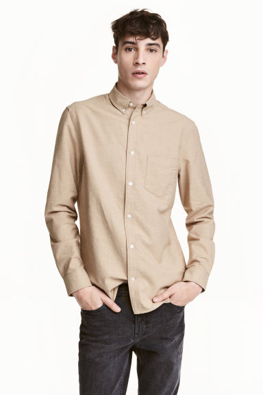 Oxford shirt - Beige - Men | H&M 1