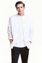 Grandad shirt - White - Men | H&M CN 1