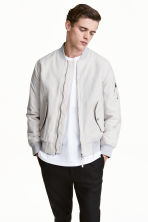 Padded bomber jacket - Light grey - Men | H&M CN 1