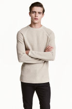 Textured-knit cotton jumper - Beige - Men | H&M CN 1