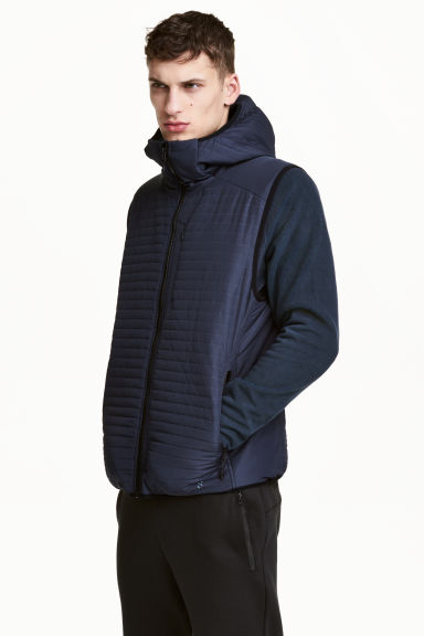 Padded bodywarmer - Dark blue - Men | H&M 1