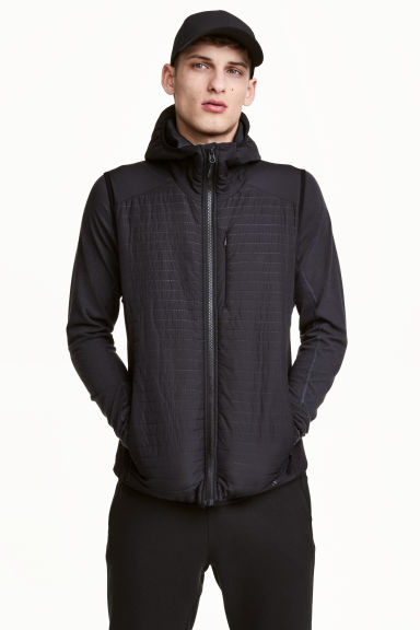 Padded bodywarmer - Black - Men | H&M