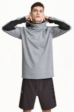 Hooded sports top - Grey marl - Men | H&M 1