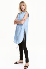 Cotton tunic - Light blue - Ladies | H&M CN 1