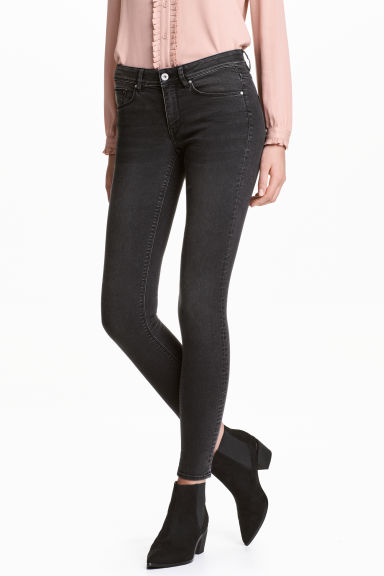 Super Skinny Regular Jeans - Black washed out - Ladies | H&M CN 1