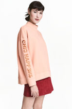Turtleneck sweatshirt - Powder - Ladies | H&M CN 1