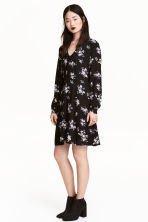 Patterned dress - Black/Floral -  | H&M 1