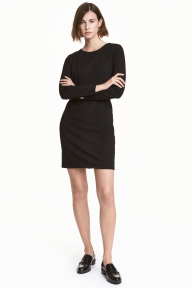 Jersey dress - Black - Ladies | H&M CN 1