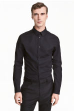 Stretch shirt Slim fit - Black - Men | H&M 1