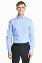 Premium cotton shirt - Light blue - Men | H&M CN 1