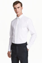 Stretch shirt Slim fit - White - Men | H&M 2