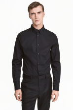 Premium cotton shirt - Black - Men | H&M 1