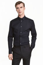 Stretch shirt Slim fit - Black -  | H&M CN 1