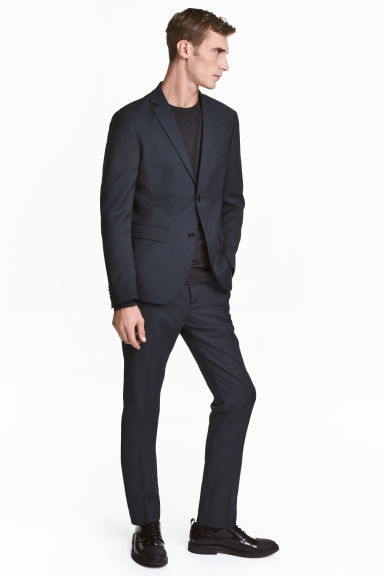 Suit trousers Slim fit - Dark blue - Men | H&M CN 1