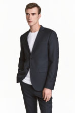 Jacket Slim fit - Dark blue - Men | H&M CN 1