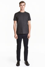 Premium cotton twill trousers - Dark blue - Men | H&M CA 2
