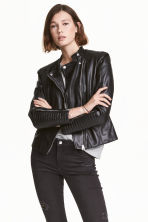 Biker jacket - Black -  | H&M GB 1