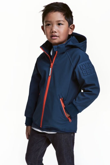 Softshell jacket - Dark blue -  | H&M
