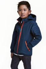 Softshell jacket - Dark blue -  | H&M 1