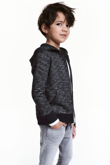連帽外套 - Black marl - Kids | H&M 1