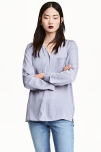 V-neck blouse - Lavender - Ladies | H&M CN 1